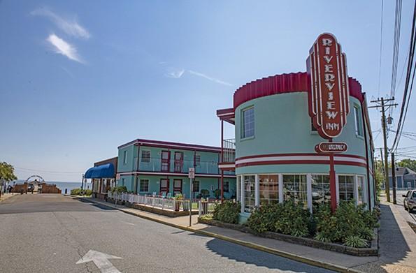 The eye-catching art deco Riverview Inn is a short walk from the beach. - SCOTT ELMQUIST
